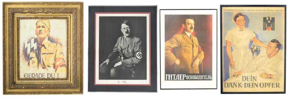 4 WWII GERMAN & RELATED POSTERS.