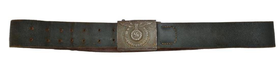 WWII GERMAN SS ENLISTED MANS BELT & BUCKLE.