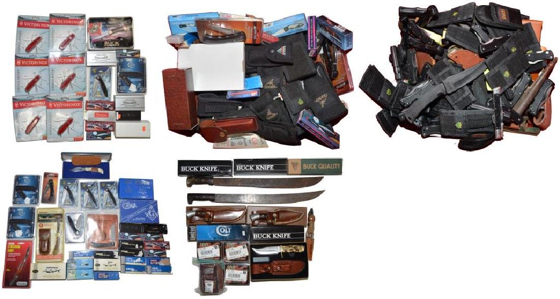 LARGE LOT OF 200+ KNIVES & ACCESSORIES.