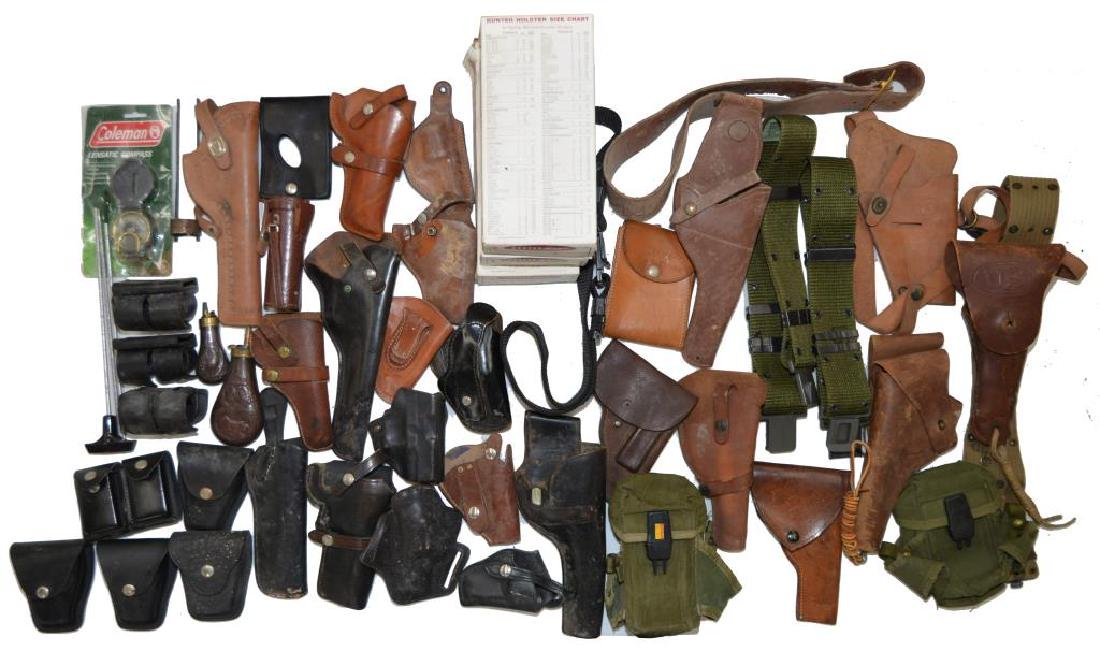 LOT OF HOLSTERS, SLINGS, BELTS & ACCESSORIES. - 2
