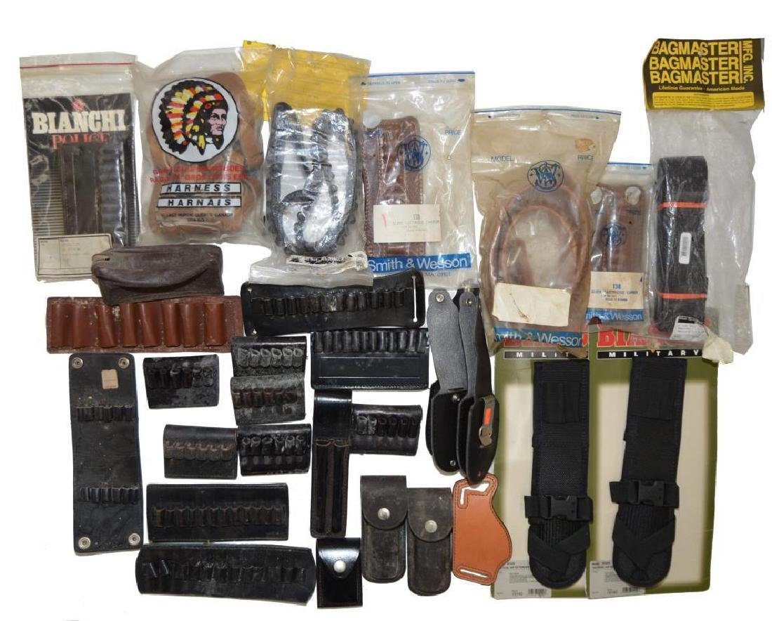 LOT OF HOLSTERS, SLINGS, BELTS & ACCESSORIES. - 3