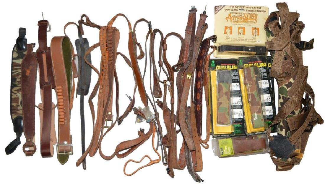 LOT OF HOLSTERS, SLINGS, BELTS & ACCESSORIES. - 4