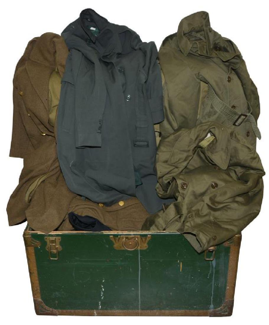 13 MILITARY UNIFORM COATS.