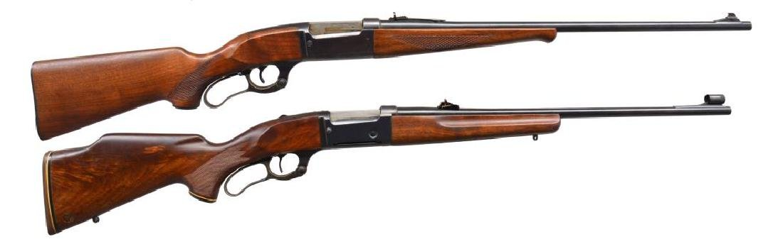 2 SAVAGE MODEL 99 LEVER ACTION 30 CAL. RIFLES.