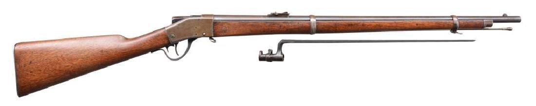 SHARPS 1878 BORCHARDT SINGLE SHOT MILITARY RIFLE.