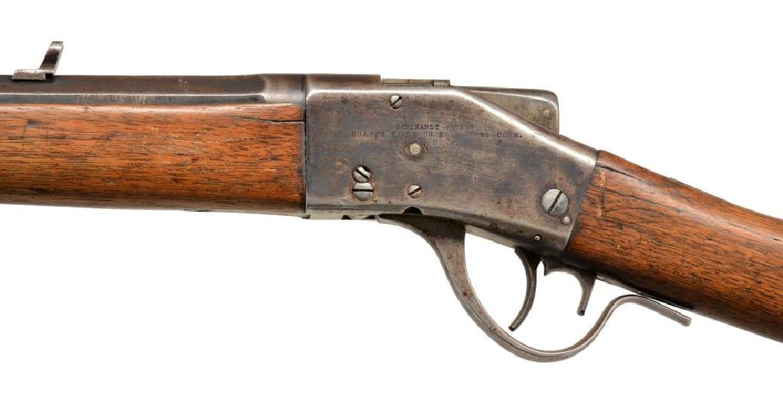 SHARPS 1878 BORCHARDT SINGLE SHOT RIFLE. - 4