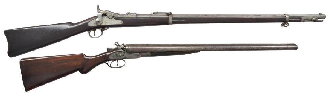 SPRINGFIELD RIFLE & THOMAS FOWLER SXS SHOTGUN.