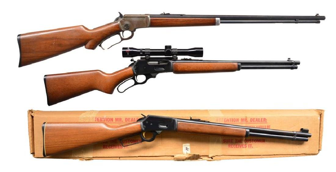 3 MARLIN LEVER ACTION RIFLES.