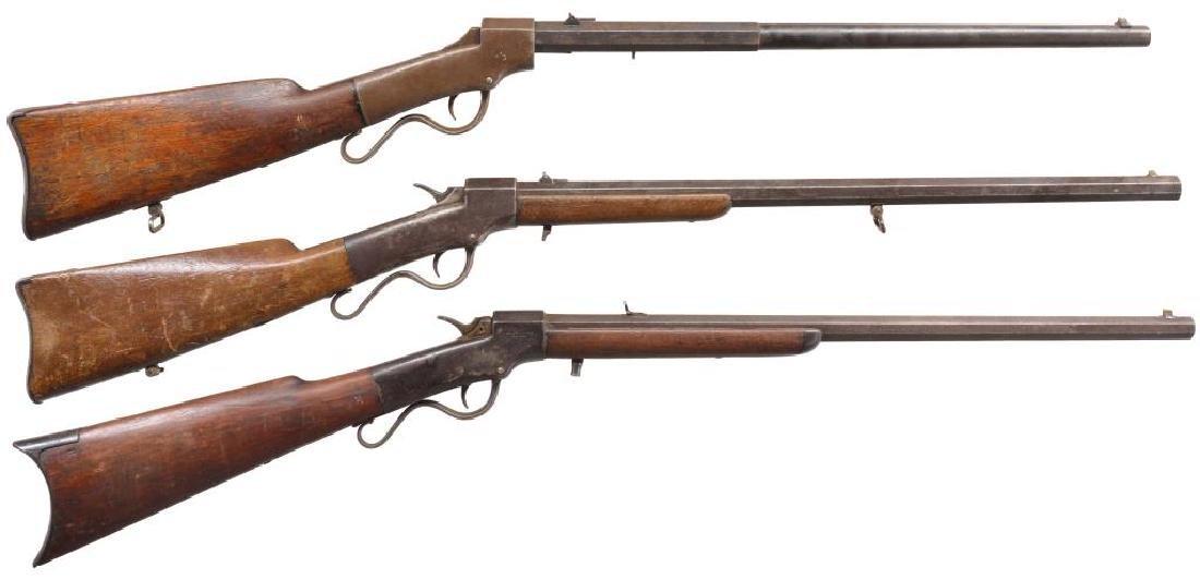 3 BALLARD SINGLE SHOT RIFLES.