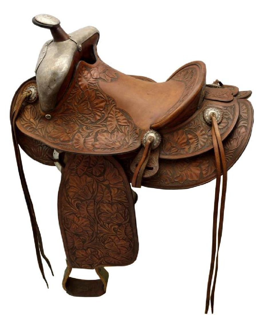 SILVER EMBELLISHED KEYSTON SADDLE.