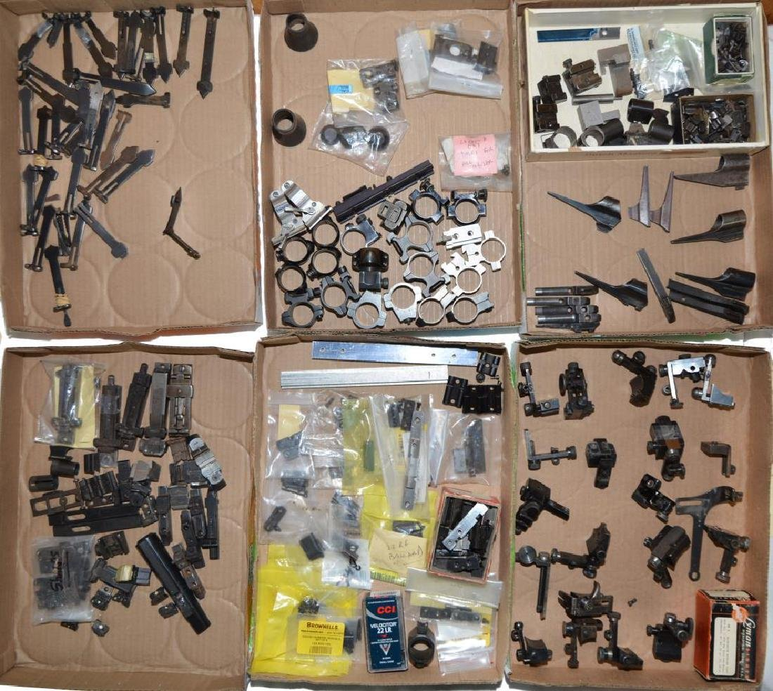 VARIOUS SIGHTS & SCOPE MOUNTING ITEMS.