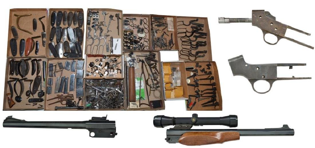 LARGE LOT OF GUN PARTS: PREDOMINATELY WINCHESTER.