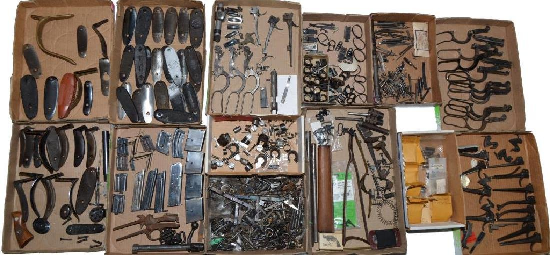 LARGE LOT OF GUN PARTS: PREDOMINATELY WINCHESTER. - 2