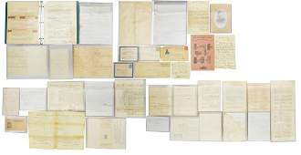CIVIL WAR LETTERS, DISCHARGES & RELATED