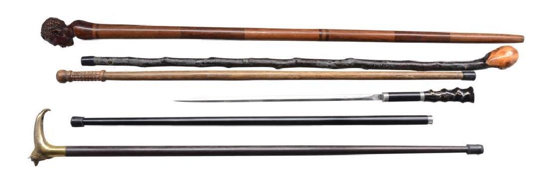 9 CANES & 1 SWORD CANE. - 4