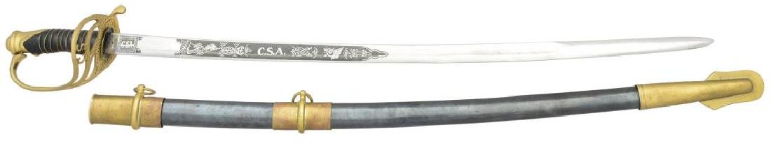 REPRODUCTION CONFEDERATE OFFICERS SWORD.