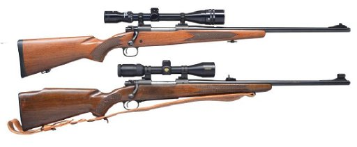 2 WINCHESTER MODEL 70 BOLT ACTION RIFLES