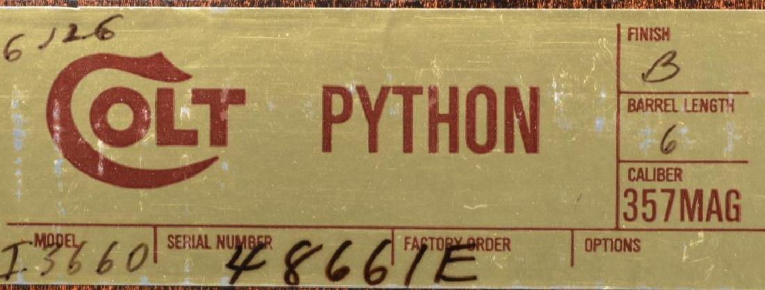 COLT PYTHON REVOLVER. - 3
