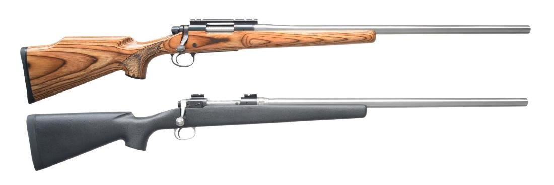 2 AMERICAN BOLT ACTION TARGET RIFLES.