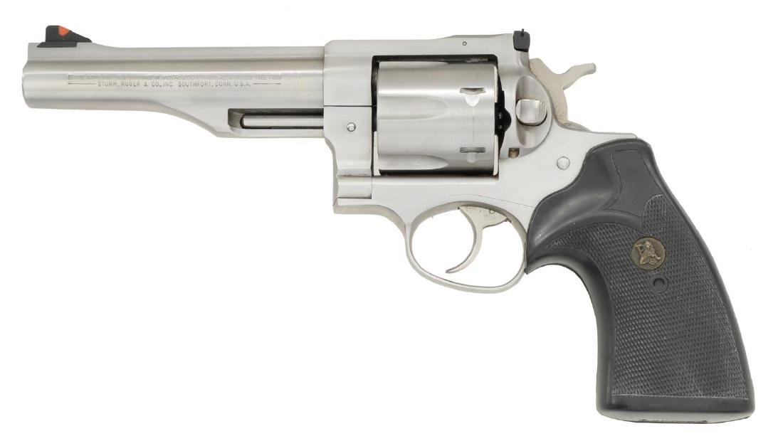 RUGER STAINLESS REDHAWK REVOLVER. - 2