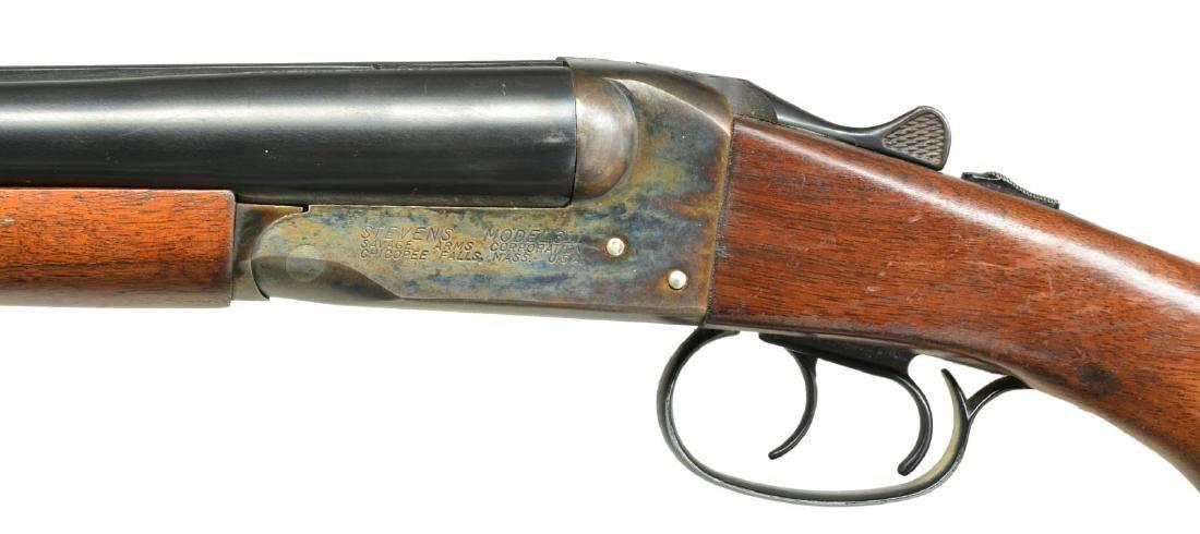 STEVENS MODEL 311 SXS SHOTGUN. - 4