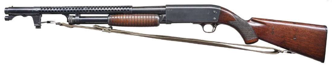 ITHACA MODEL 37 TRENCH PUMP SHOTGUN. - 2