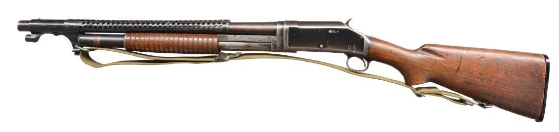 WINCHESTER MODEL 1897 TRENCH PUMP SHOTGUN. - 2