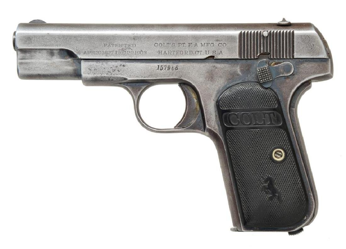 COLT 1903 HAMMERLESS POCKET SEMI AUTO PISTOL.