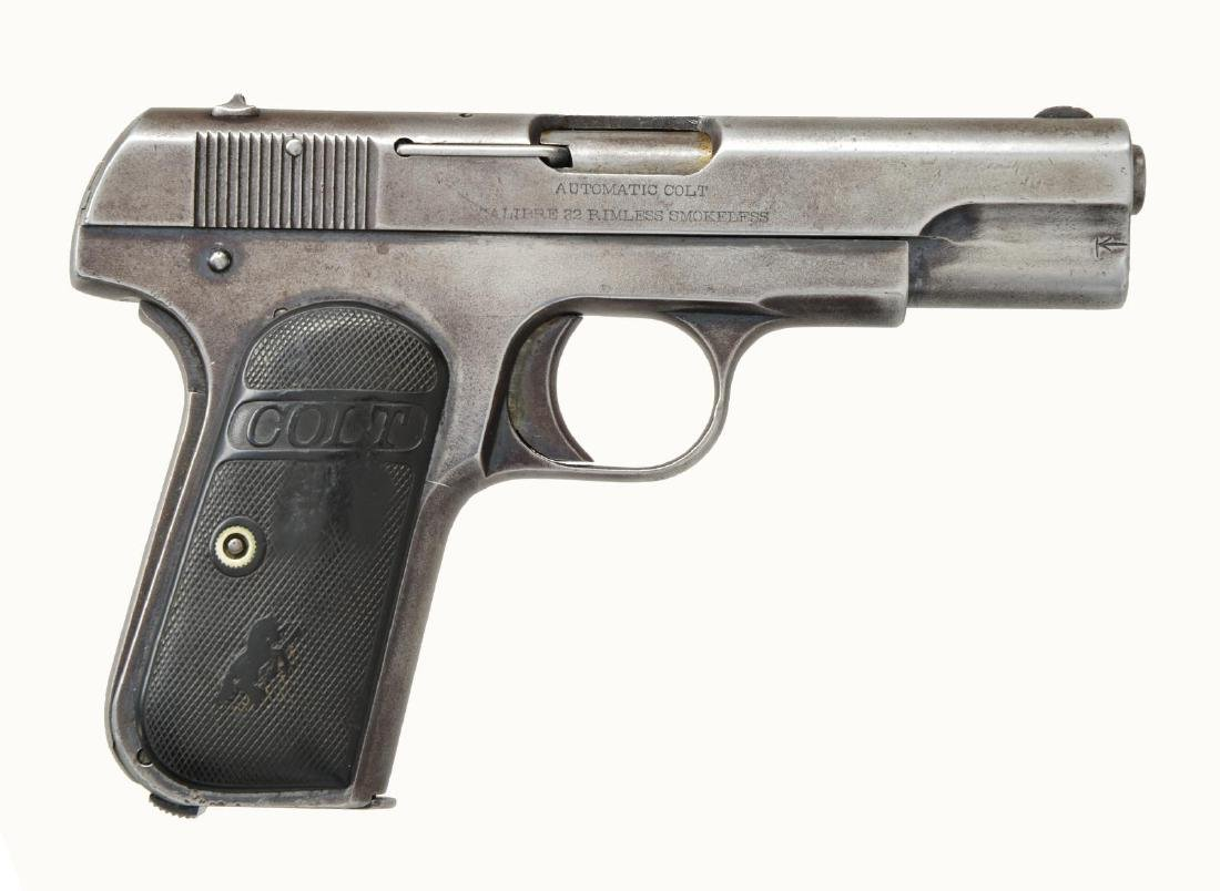 COLT 1903 HAMMERLESS POCKET SEMI AUTO PISTOL. - 5
