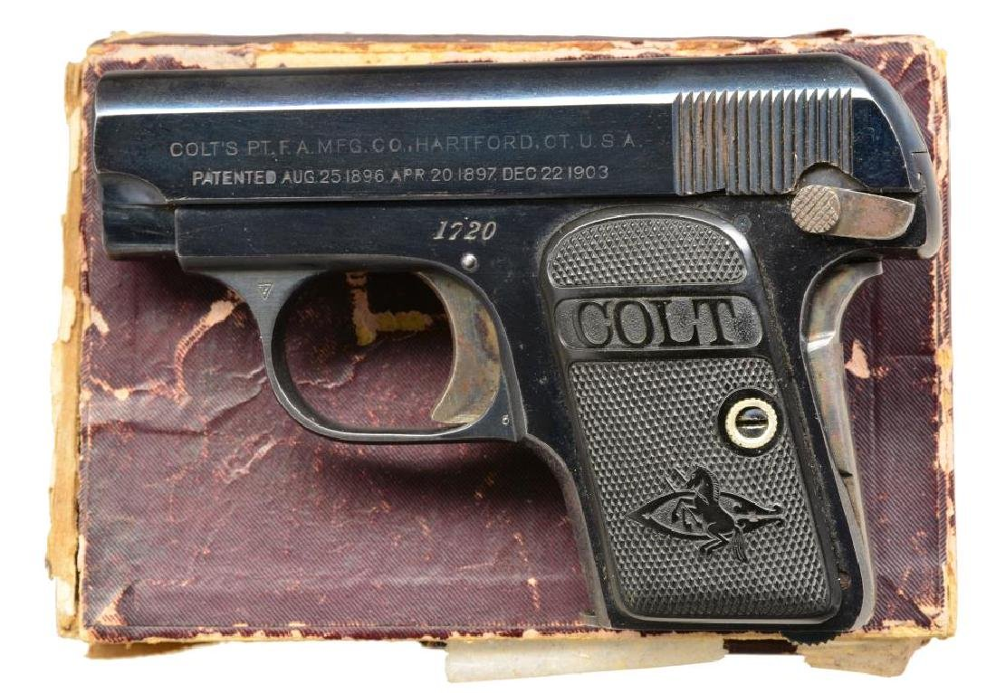COLT MODEL 1908 VEST POCKET SEMI AUTO PISTOL.