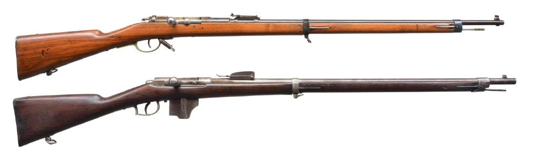2 EUROPEAN MILITARY BOLT ACTION RIFLES.