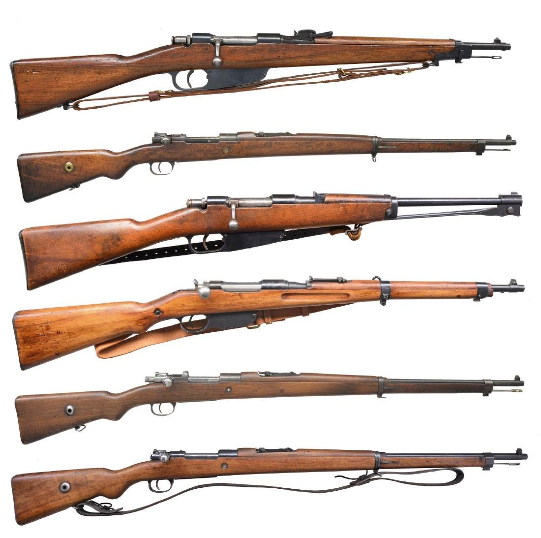 6 CURIO BOLT ACTION RIFLES.