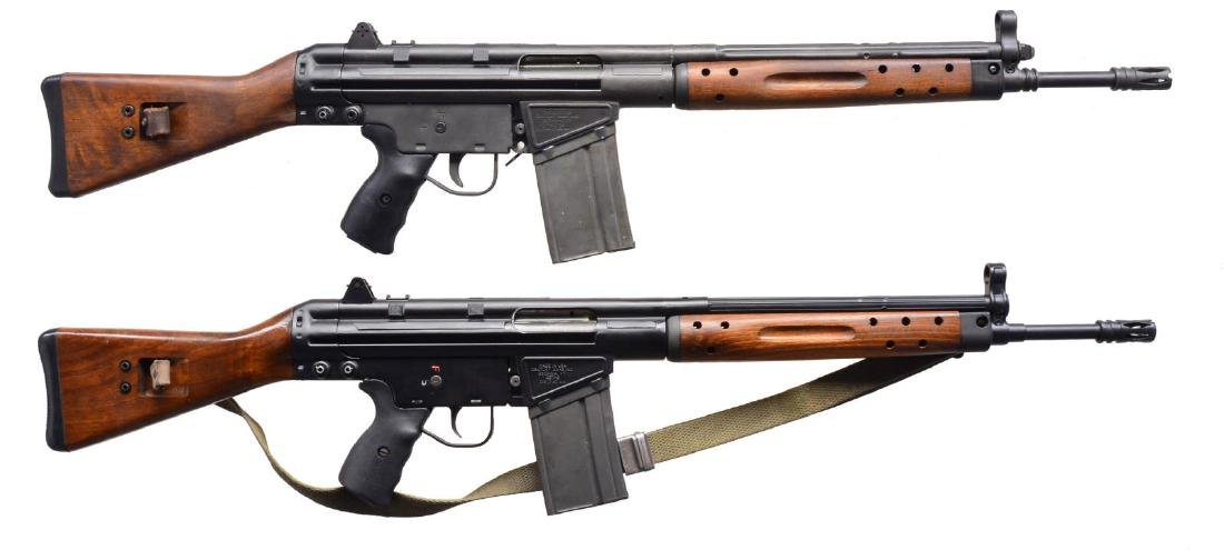 2 CENTURY ARMS MODEL CETME SEMI AUTO RIFLES.