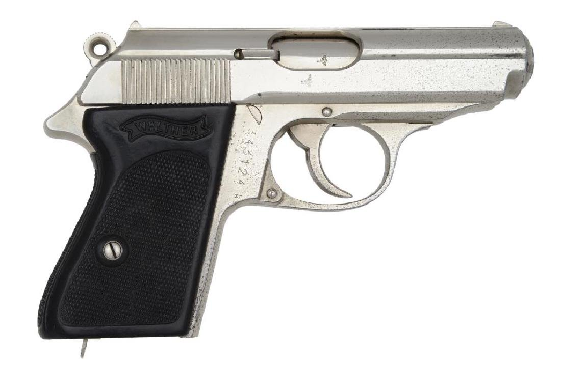 CUSTOM WALTHER MODEL PPK SEMI AUTO PISTOL.