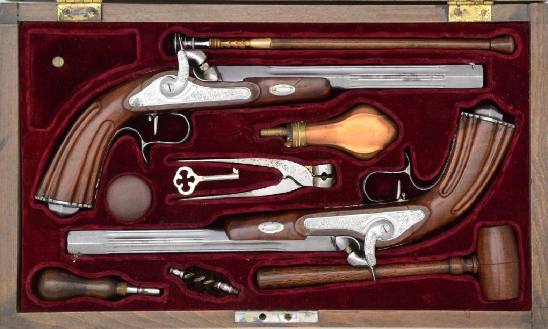 CASED PAIR OF CONTEMPORARY REPLICA ITALIAN