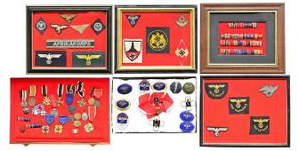 LARGE GROUP OF WWII GERMAN MEDALS RIBBONS