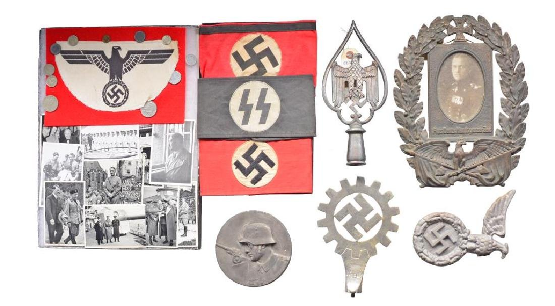 LARGE GROUP OF MOSTLY WWII GERMAN PIECES