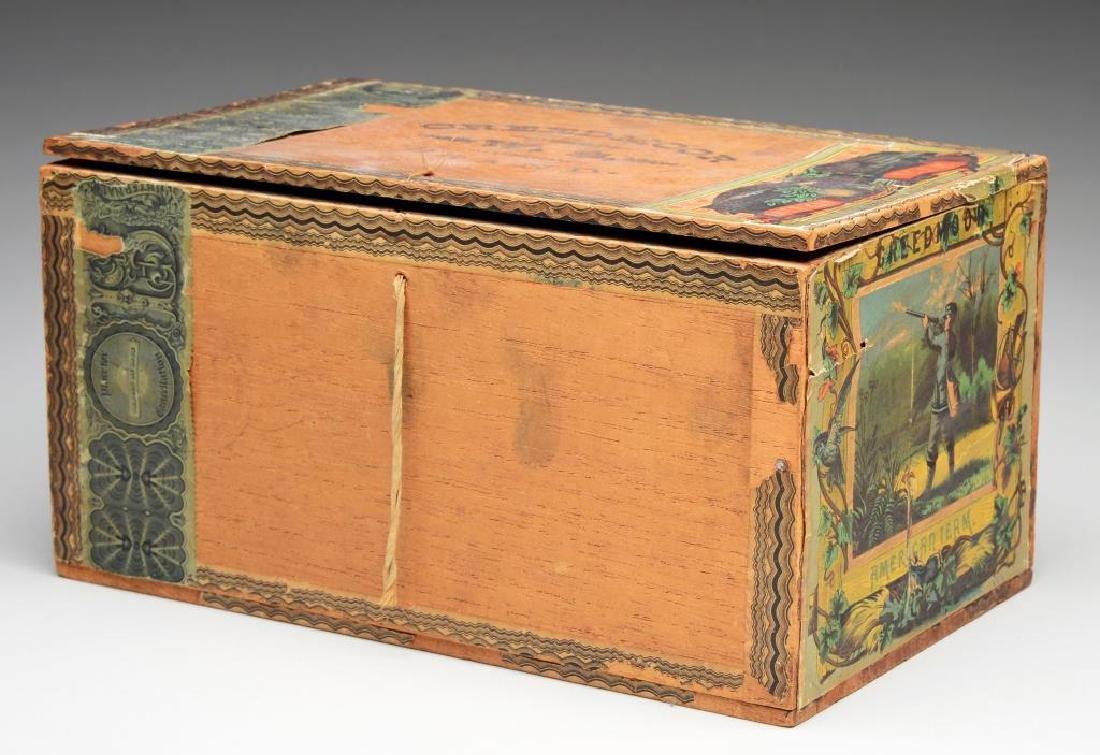 CIVIL WAR THEMED CIGAR BOX.