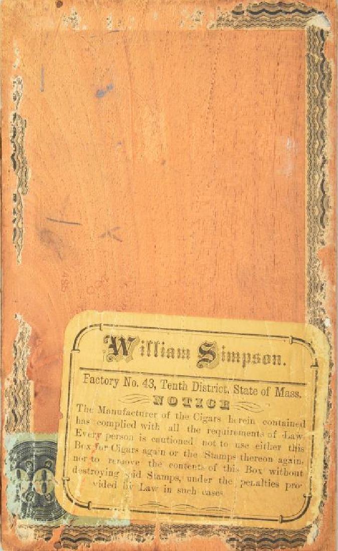 CIVIL WAR THEMED CIGAR BOX. - 5