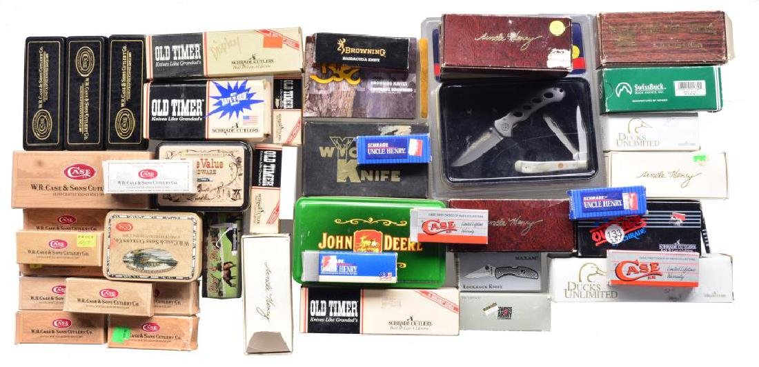 LARGE LOT OF COMMERCIAL KNIVES. - 2