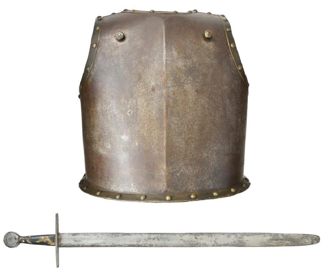 5 EDGED WEAPONS, 18TH CENTURY CUIRASS & - 2