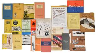 LARGE LOT OF FIREARMS & SPORTING RELATED MANUALS,