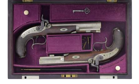CASED PAIR OF PRESENTATION MISSISSIPPI AGENT