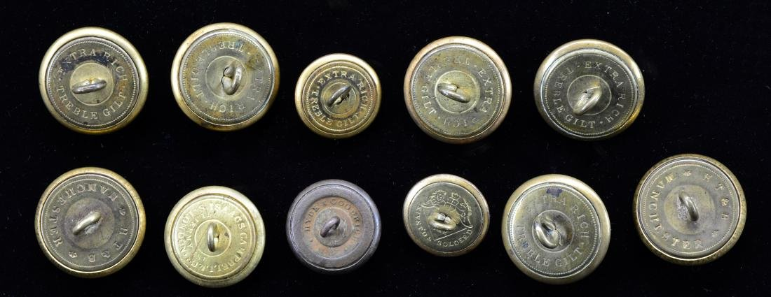 11 CIVIL WAR CONFEDERATE BUTTONS. - 2