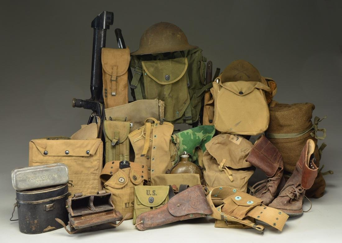 WWI & WWII FIELD GEAR, PERISCOPE & MORE.