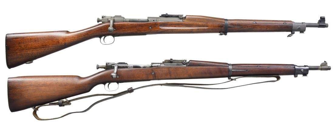 2 U.S. MILITARY BOLT ACTION MODEL 1903 RIFLES.