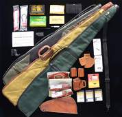 INTERESTING GROUP OF GUN AMMUNITION PARTS