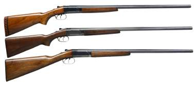 3 WINCHESTER MODEL 24 SXS SHOTGUNS.