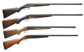 PARKER, ITHACA & STEVENS SXS SHOTGUNS.