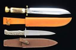 2 HUNTING KNIVES (RUSSEL & FOX).